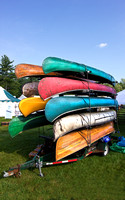 Canoe Stack at Brimfield