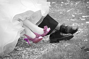 spot coloring wedding photos